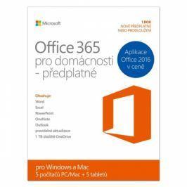 Microsoft pro domácnosti CZ (6GQ-00140) Kancelářské aplikace