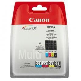 Canon CLI551, 4x 7ml - originální (6509B009) Inkousty a refillkity
