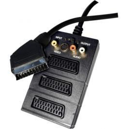 EMOS SCART / 3x SCART + 3x Cinch + S-Video, 0,5m (SB2300)