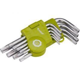 EXTOL 66010, L-klíče, krátké, 9 ks
