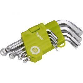 EXTOL 66000, L-klíče, krátké, 9 ks