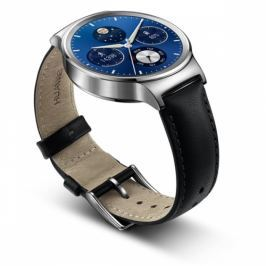 Huawei Watch W1 Stainless Steel + Black Leather (WA-WATCHW1SOM)