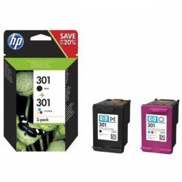 HP 301 - multipack(černá, 3-barevná) (N9J72AE)