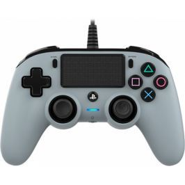 Nacon Wired Compact Controller pro PS4 - camouflage šedý (ps4hwnaconwccgrey)