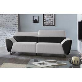 Trojsedák Elba (pulse black D209/maison pearl E430,černá/béžová) Levné sedací soupravy