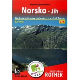 Norsko - jih - Turistický průvodce Rother - Bernhard Pollmann