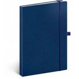 Notes - Vivella Classic modrý/modrý, linkovaný, 15 x 21 cm