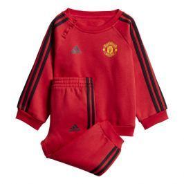 Dětská tepláková souprava adidas 3-Stripes Manchester United FC červeno-černá
